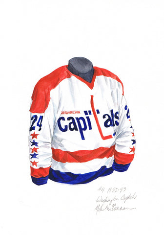Washington Capitals 1982-83 - Heritage Sports Art - original watercolor artwork - 1