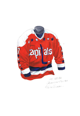 Washington Capitals 1985-86 - Heritage Sports Art - original watercolor artwork - 1