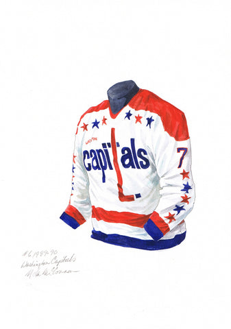 Washington Capitals 1989-90 - Heritage Sports Art - original watercolor artwork - 1