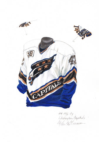 Washington Capitals 1996-97 - Heritage Sports Art - original watercolor artwork - 1
