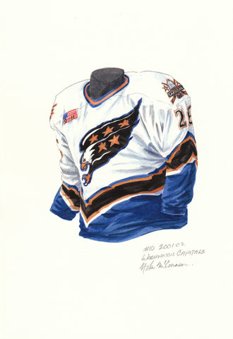 Washington Capitals 2001-02 - Heritage Sports Art - original watercolor artwork - 1