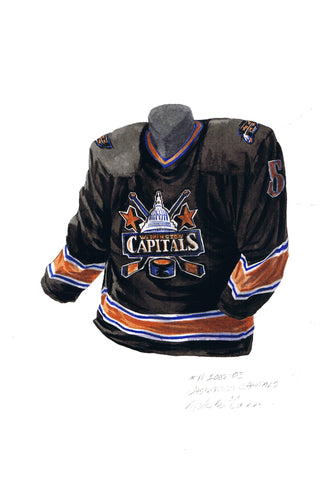 Washington Capitals 2002-03 - Heritage Sports Art - original watercolor artwork - 1