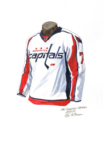 Washington Capitals 2007-08 - Heritage Sports Art - original watercolor artwork - 1