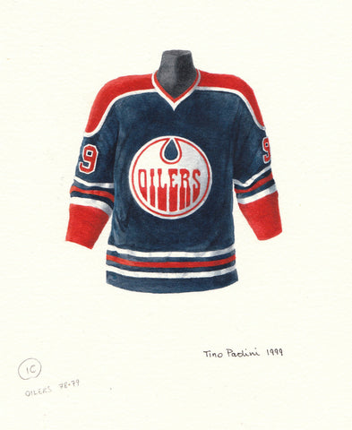 Wayne Gretzky 1978-79 Oilers - Heritage Sports Art - original watercolor artwork - 1