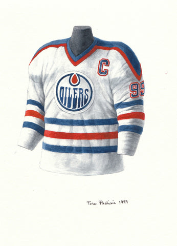 Wayne Gretzky 1984-85 - Heritage Sports Art - original watercolor artwork - 1