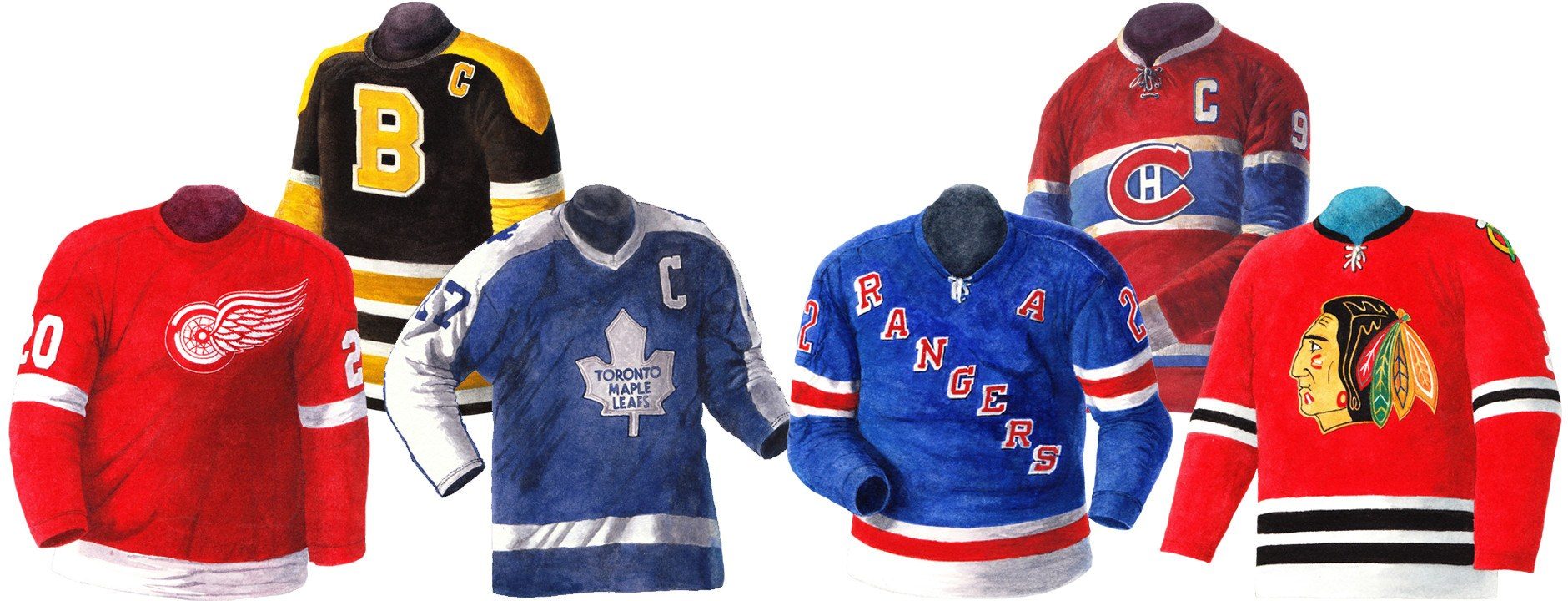 NHL vintage uniform images