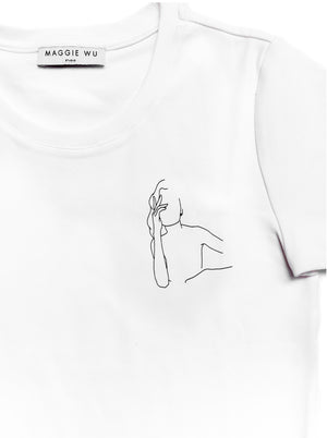 Thinking Woman Printed Cotton Tee