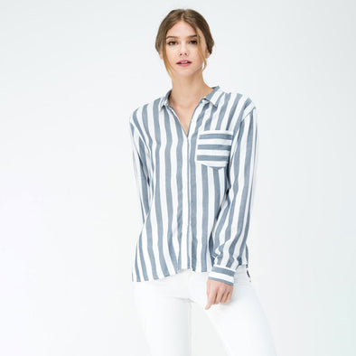 Long Sleeve Stripe Shirts - Fashion eNation