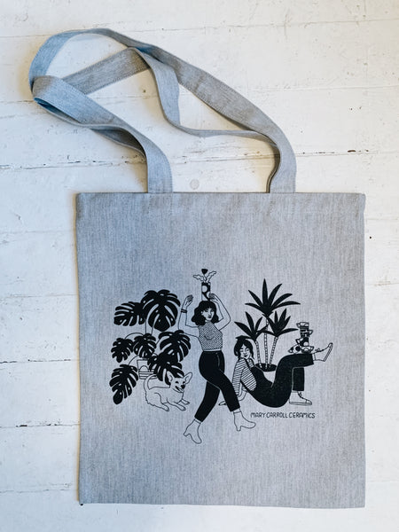 Mary Carroll X Beetle Ink tote bags