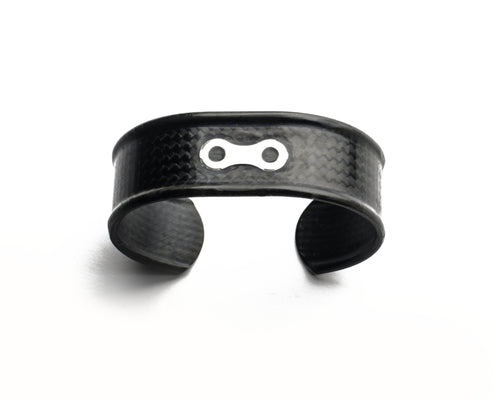 Hand Crafted Carbon Fiber Bicycle Bracelet