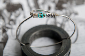 Turquoise Skull Cycling Spoke Bracelet Hand Crafted Cycling Gifts For Your Best Friend - Bike Bracelets Gifts For Cyclist - Cycling Jewelry