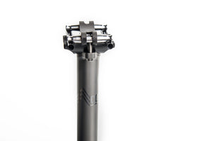Titanium Bicycle Seatpost with Carbon Fiber Rail (165g)