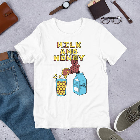 Milk & Honey Bear Fresh White T-Shirt - The Phi Concept