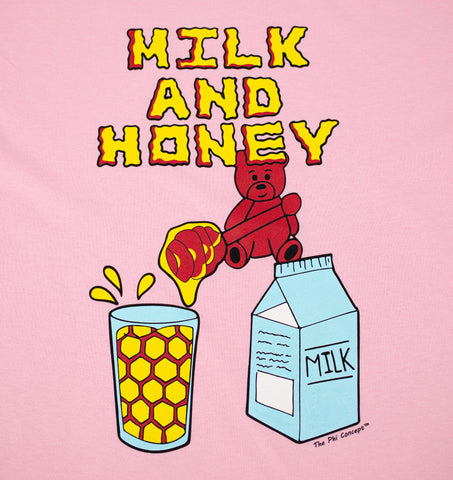 Milk & Honey Bear Light Pink T-Shirt - The Phi Concept