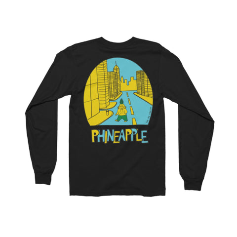 PHINEAPPLE City Longsleeve Black - The Phi Concept