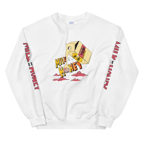 Milk & Honey Fresh White Crewneck - The Phi Concept