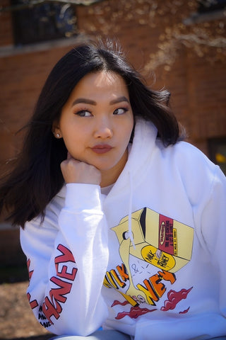 Milk & Honey Fresh White Hoodie - The Phi Concept