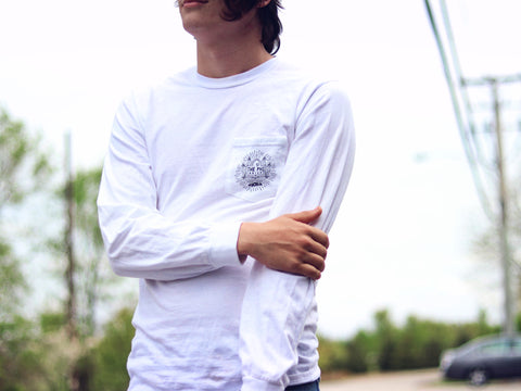 PHINEAPPLE Vacay Longsleeve White - The Phi Concept