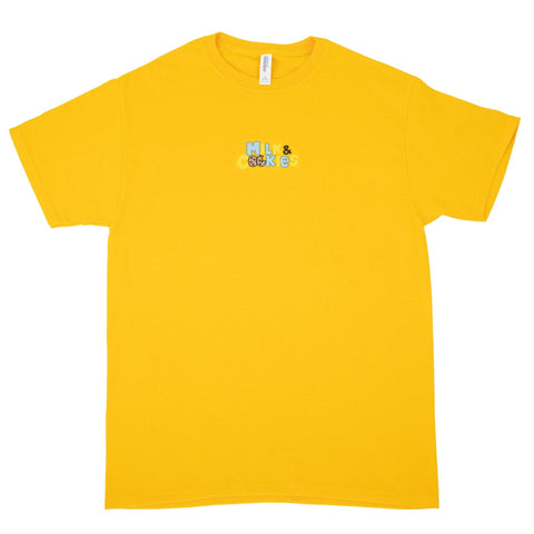 Milk & Cookies Embroidered Gold T-Shirt - The Phi Concept