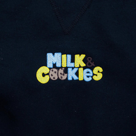 Milk & Cookies Limited Black Embroidered Hoodie - The Phi Concept