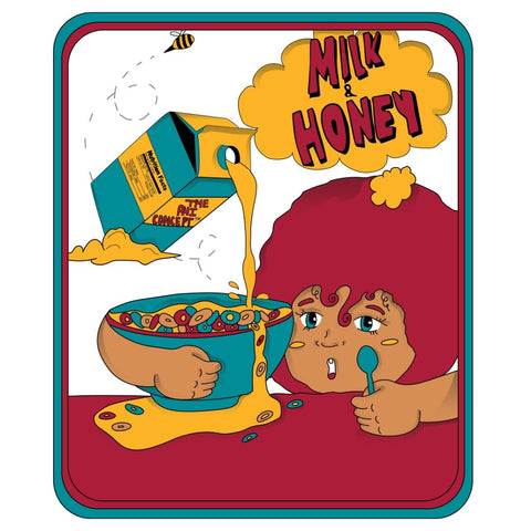 Milk & Honey Cereal Black T-Shirt (Small) - The Phi Concept