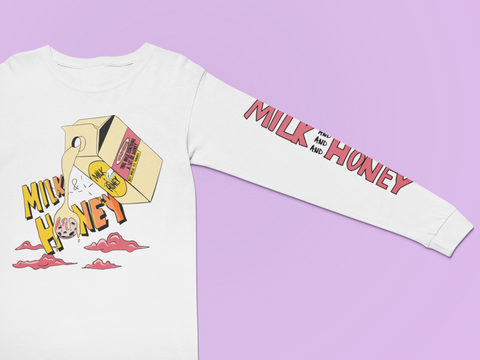Milk & Honey Fresh White Longsleeve T-Shirt - The Phi Concept