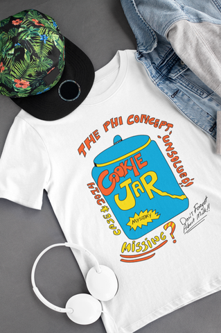 Grandma's Cookie Jar White T-Shirt - The Phi Concept