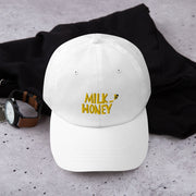 Milk & Honey Embroidered Fresh White Dad Hat - The Phi Concept