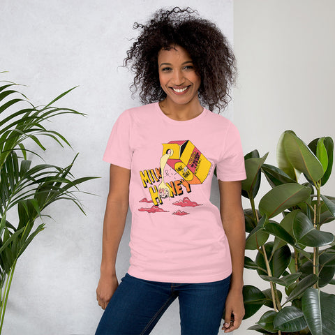 Milk & Honey Pink T-Shirt - The Phi Concept
