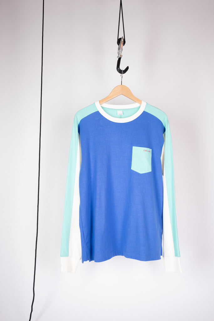long sleeve pocket jump t amparo blue