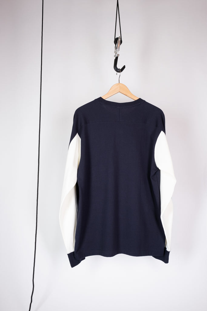 long sleeve pocket jump t navy