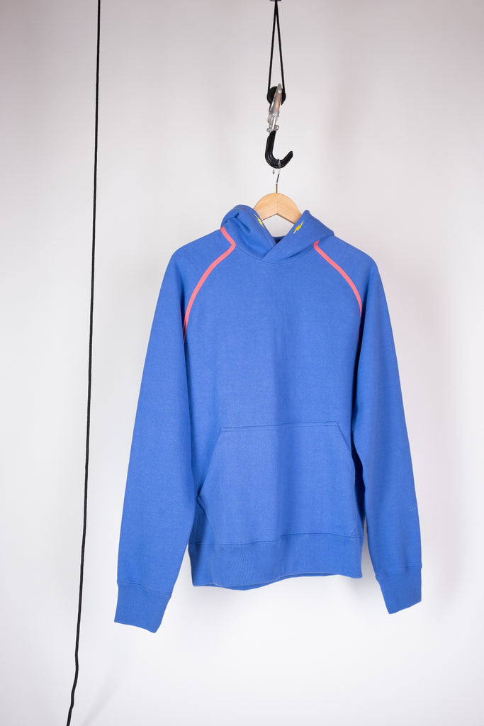 embroidered hoodie sweatshirt amparo blue