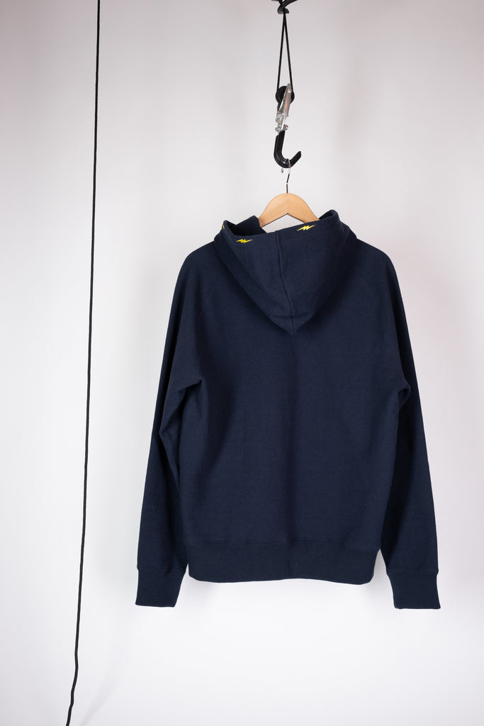 embroidered hoodie sweatshirt navy