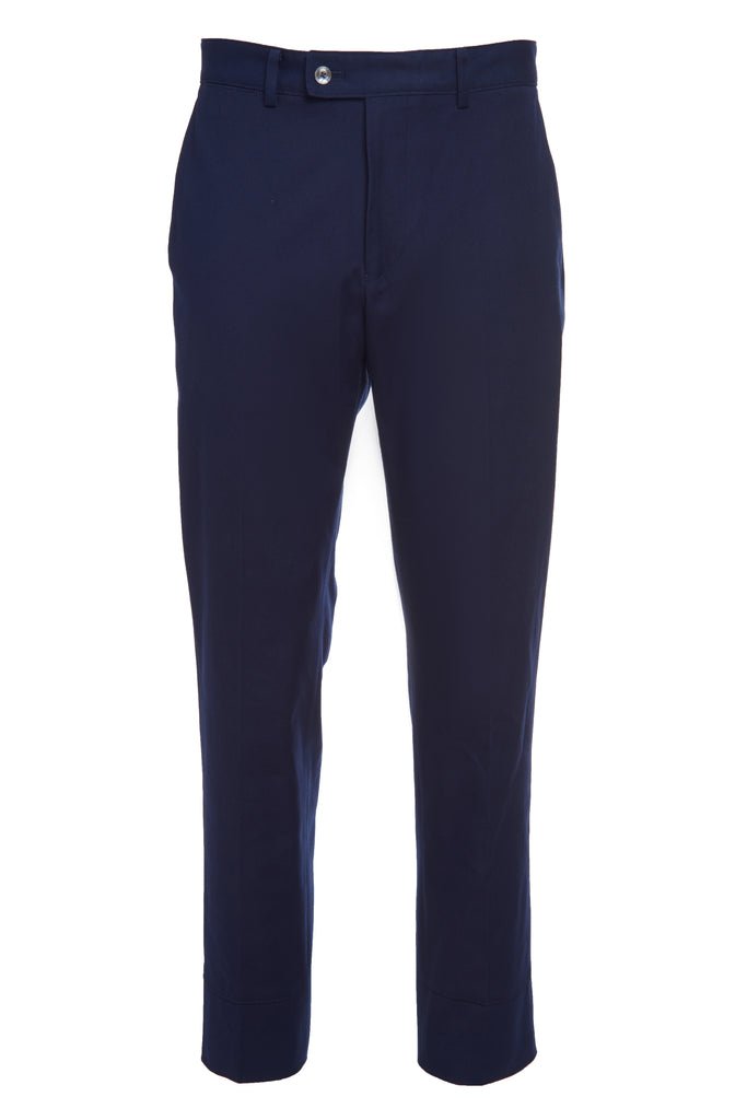 false hem pant navy