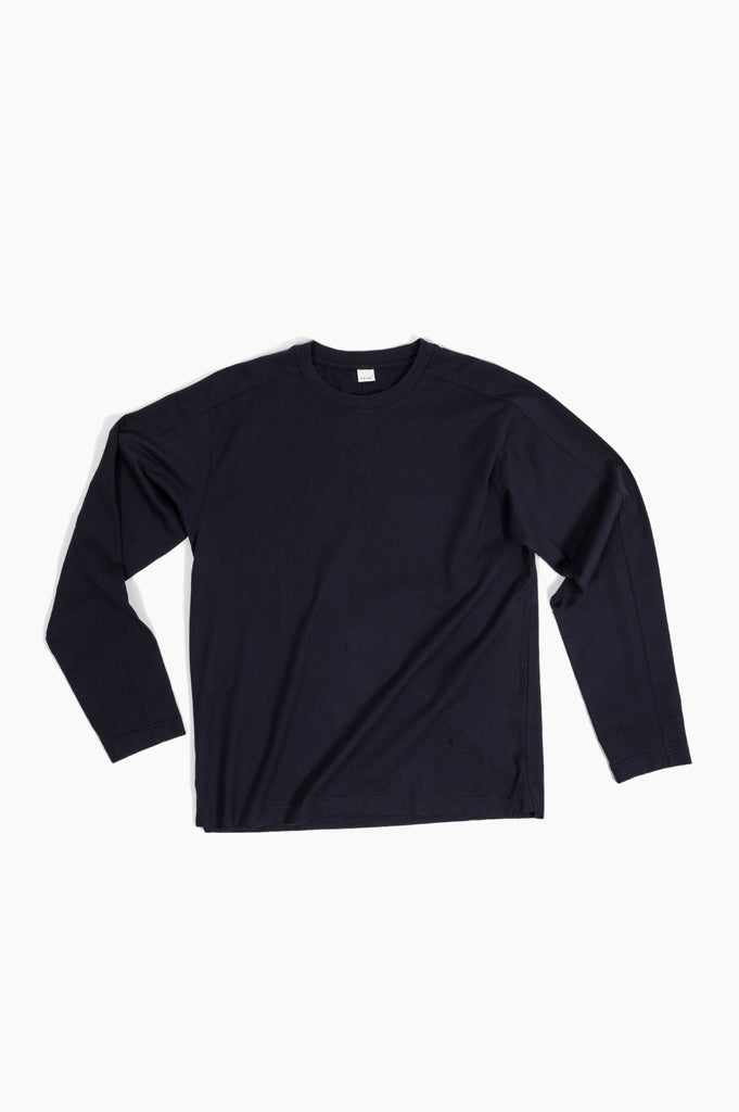 long sleeve jump t navy