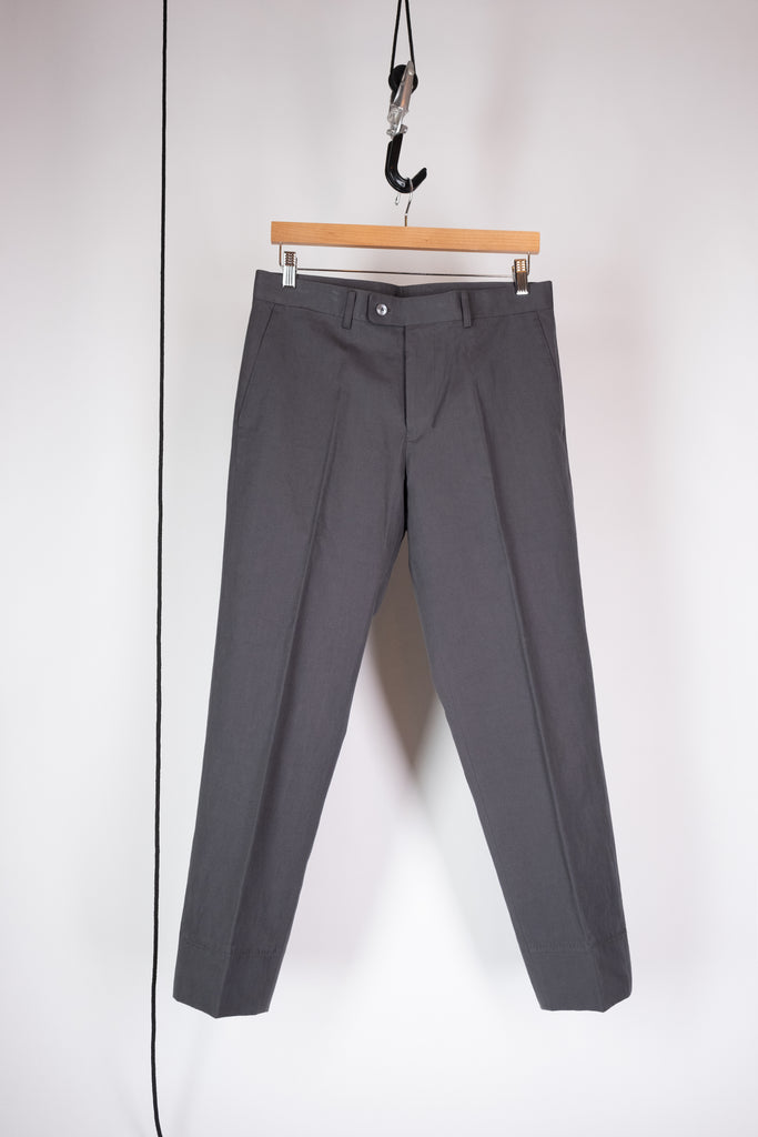 false hem pant grey