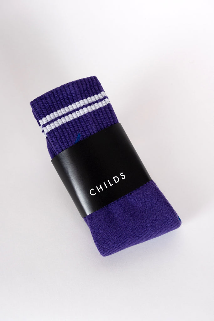 crew sock purple