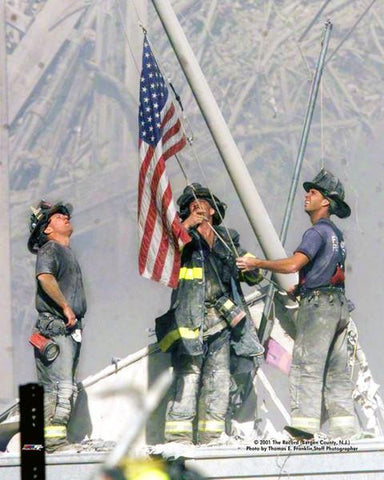 Firefighters at Ground Zero - September 11th Tribute