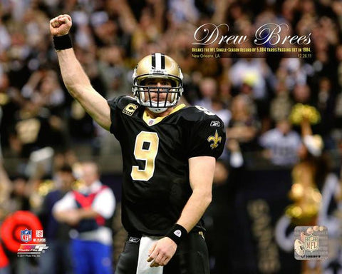 Drew Brees Sets the NFL Single-Season Passing Yards Record with Overlay