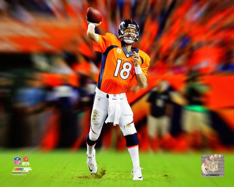 Peyton Manning NFL Motion Blast Photo