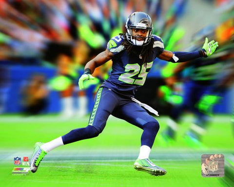 Richard Sherman NFL Motion Blast Photo