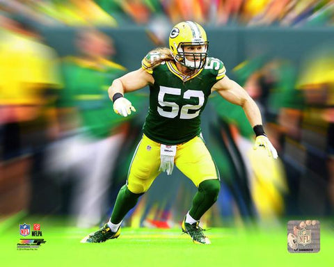 Clay Matthews NFL Motion Blast Photo