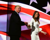 Donald Trump and his wife, Melania Trump, during the Republican National Convention 7/18/2016 #1