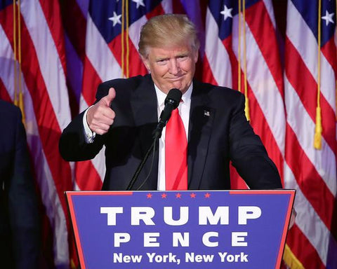 Donald Trump gives his acceptance speech at his election night event 11/9/2016 in New York City #2
