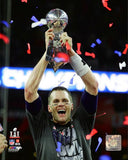Tom Brady with the Vince Lombardi Trophy - Super Bowl 51 Photo