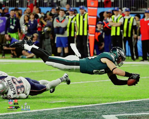 Zach Ertz Touchdown Catch Super Bowl LII