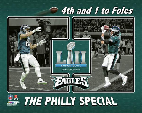 "Nick Foles & Trey Burton ""Philly Special""  Super Bowl LII"