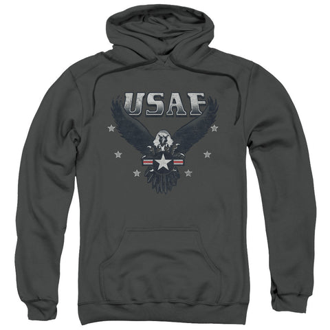 AIR FORCE/INCOMING-ADULT PULL-OVER HOODIE-CHARCOAL-3X T-Shirt - Societee Norms