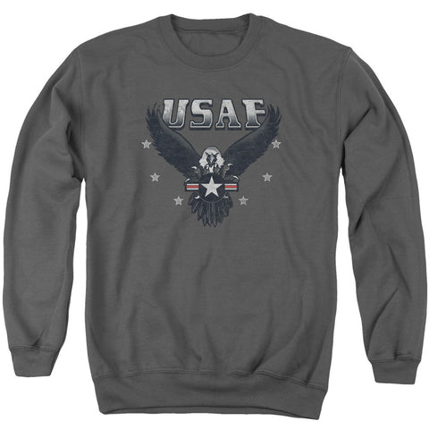 AIR FORCE/INCOMING - ADULT CREWNECK SWEATSHIRT - CHARCOAL - XL T-Shirt - Societee Norms