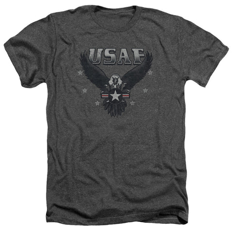 AIR FORCE/INCOMING-ADULT HEATHER-CHARCOAL-2X T-Shirt - Societee Norms